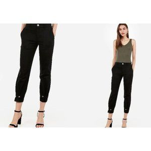 Express High Waisted Straight Cropped Cinched Hem